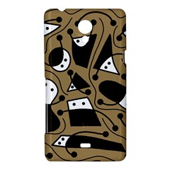 Playful abstract art - Brown Sony Xperia T