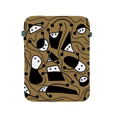 Playful abstract art - Brown Apple iPad 2/3/4 Protective Soft Cases