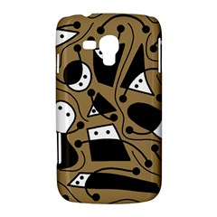 Playful abstract art - Brown Samsung Galaxy Duos I8262 Hardshell Case