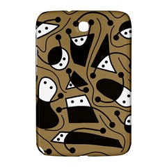 Playful abstract art - Brown Samsung Galaxy Note 8.0 N5100 Hardshell Case