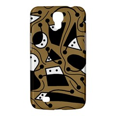 Playful abstract art - Brown Samsung Galaxy Mega 6.3  I9200 Hardshell Case