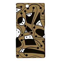 Playful abstract art - Brown Sony Xperia Z Ultra