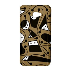 Playful abstract art - Brown HTC Butterfly S/HTC 9060 Hardshell Case