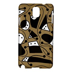 Playful abstract art - Brown Samsung Galaxy Note 3 N9005 Hardshell Case