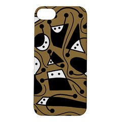 Playful abstract art - Brown Apple iPhone 5S/ SE Hardshell Case