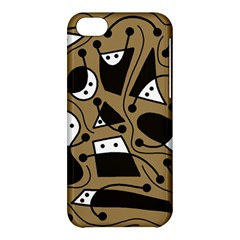 Playful abstract art - Brown Apple iPhone 5C Hardshell Case
