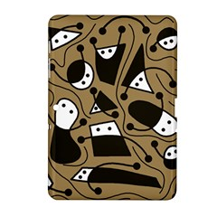 Playful abstract art - Brown Samsung Galaxy Tab 2 (10.1 ) P5100 Hardshell Case