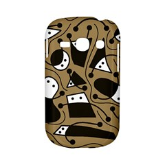 Playful abstract art - Brown Samsung Galaxy S6810 Hardshell Case