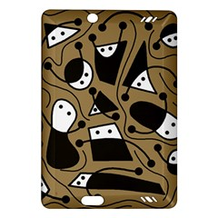 Playful abstract art - Brown Amazon Kindle Fire HD (2013) Hardshell Case