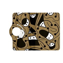 Playful abstract art - Brown Kindle Fire HD (2013) Flip 360 Case