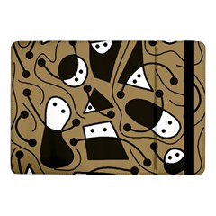 Playful abstract art - Brown Samsung Galaxy Tab Pro 10.1  Flip Case