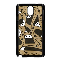 Playful abstract art - Brown Samsung Galaxy Note 3 Neo Hardshell Case (Black)