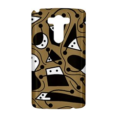 Playful abstract art - Brown LG G3 Hardshell Case
