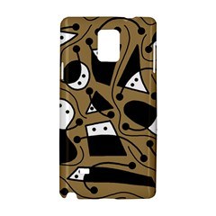 Playful abstract art - Brown Samsung Galaxy Note 4 Hardshell Case