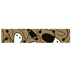 Playful abstract art - Brown Flano Scarf (Small)