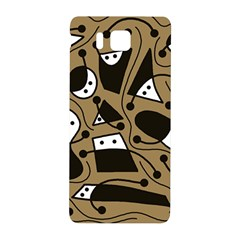 Playful abstract art - Brown Samsung Galaxy Alpha Hardshell Back Case