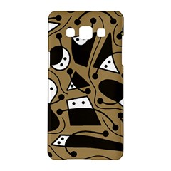 Playful abstract art - Brown Samsung Galaxy A5 Hardshell Case