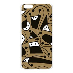 Playful abstract art - Brown Apple Seamless iPhone 6 Plus/6S Plus Case (Transparent)