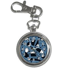 Playful abstract art - blue Key Chain Watches