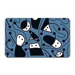Playful abstract art - blue Magnet (Rectangular)