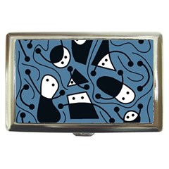 Playful abstract art - blue Cigarette Money Cases