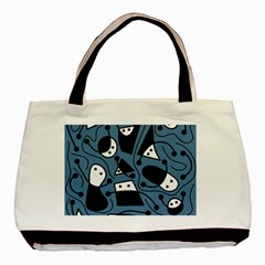 Playful abstract art - blue Basic Tote Bag (Two Sides)
