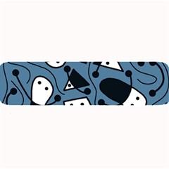 Playful abstract art - blue Large Bar Mats