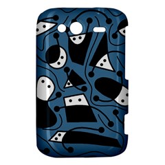 Playful abstract art - blue HTC Wildfire S A510e Hardshell Case