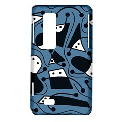 Playful abstract art - blue LG Optimus Thrill 4G P925
