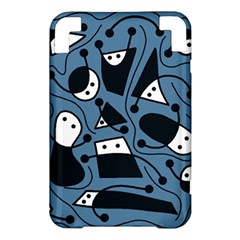 Playful abstract art - blue Kindle 3 Keyboard 3G