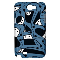 Playful abstract art - blue Samsung Galaxy Note 2 Hardshell Case