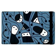 Playful abstract art - blue Apple iPad 2 Flip Case