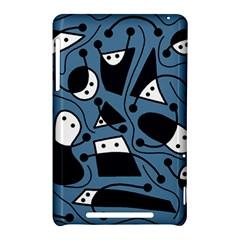 Playful abstract art - blue Nexus 7 (2012)