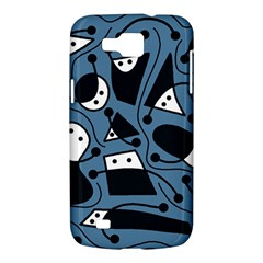 Playful abstract art - blue Samsung Galaxy Premier I9260 Hardshell Case