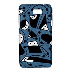 Playful abstract art - blue Motorola XT788