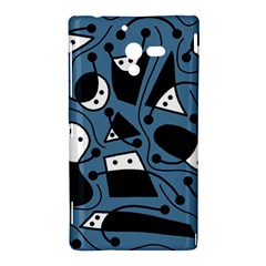Playful abstract art - blue Sony Xperia ZL (L35H)