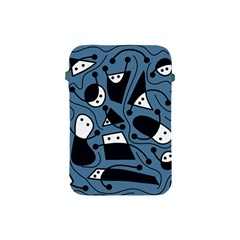 Playful abstract art - blue Apple iPad Mini Protective Soft Cases