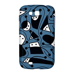 Playful abstract art - blue Samsung Galaxy Grand GT-I9128 Hardshell Case