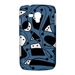 Playful abstract art - blue Samsung Galaxy Duos I8262 Hardshell Case