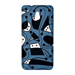Playful abstract art - blue HTC One Mini (601e) M4 Hardshell Case
