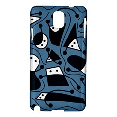 Playful abstract art - blue Samsung Galaxy Note 3 N9005 Hardshell Case