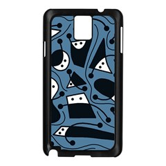 Playful abstract art - blue Samsung Galaxy Note 3 N9005 Case (Black)