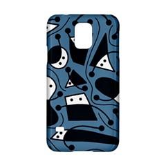 Playful abstract art - blue Samsung Galaxy S5 Hardshell Case