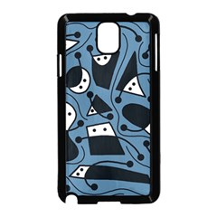 Playful abstract art - blue Samsung Galaxy Note 3 Neo Hardshell Case (Black)