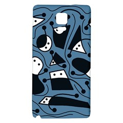 Playful abstract art - blue Galaxy Note 4 Back Case