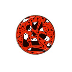 Playful abstract art - red Hat Clip Ball Marker
