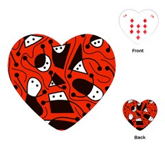 Playful abstract art - red Playing Cards (Heart)