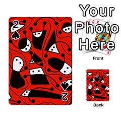 Playful abstract art - red Playing Cards 54 Designs