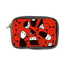 Playful abstract art - red Coin Purse
