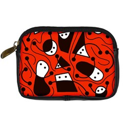 Playful abstract art - red Digital Camera Cases